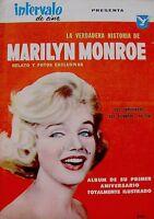 Marilyn Monroe Magazine 1963 Intervalo De Cine Argentina International Rare VTG