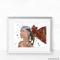 GAME OF THRONES Print Poster Watercolour Framed Canvas Wall Art Print Danerys
