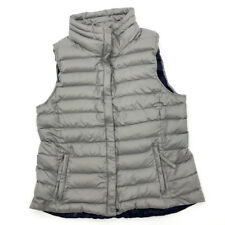 GAP Down Filled Puffer Vest L Snap Button Closure Zippered Pocket Nylon Womens