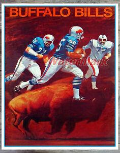 Vintage NFL Buffalo Bills Color Poster Print 8 X 10 REPRINT Photo Picture