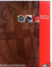 ALFA ROMEO 156 166 SPIDER GTV Boutique Breitling accessori UK Opuscolo 1998