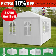 More details for 3x4m 4side heavy duty gazebo marquee party tent waterproof garden outdoor canopy
