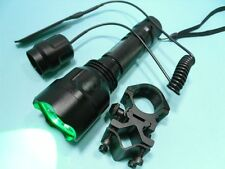 Green Light CREE LED Flashlight 1-mode Torch Shotgun/Rifle Hunting Kit C8_02