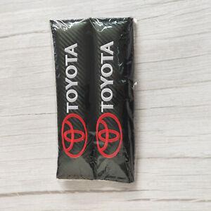 2 Pack Black Carbon Fiber Car Seat Belt Shoulder Pads for TOYOTA