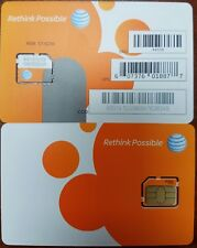 At&T Prepaid Go Phone 3G /4G Micro Sim Card Ready Activate,