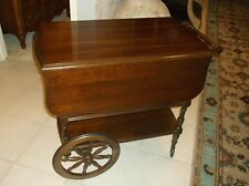 Pennsylvania House Cherry Drop Leaf Tea Cart