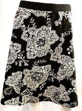 Talbots Petites SZ 8P A-Line Skirt 100% Cotton Side Zip Close Floral Print