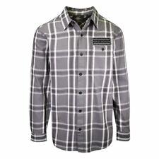 Harley-Davidson Men's Check Badge Grey Plaid L/S Woven Shirt (S49)