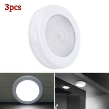 3X 6 LED Motion Sensor PIR Light Cordless Battery Powered LED Night Light