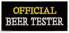 "OFFICIAL BEER TESTER EMBROIDERED PATCH 8 X 3.5CM (3 1/4"" X 1 1/2"")"