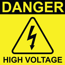 "Danger High Voltage Sign 8"" x  8"""