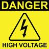 """Danger High Voltage Sign 8"""" x  8"""""""