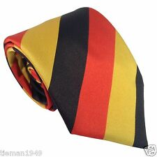 Germany National German Flag Colours Black Yellow Red Striped Polyester Mens Tie