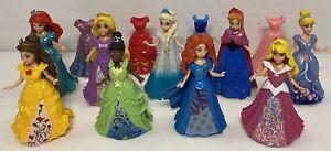 Disney Magic Clip Dolls  Bundle With Aurora, Tiana and Merida