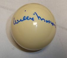 Willie Mosconi Signed Billiards Cue Pool Ball PSA/DNA COA Autograph The Hustler