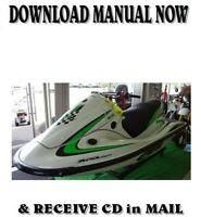 Kawasaki 1200 STX-R  Jet Ski JT1200-A1 factory repair shop service manual on CD