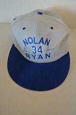 MLB Angels Rangers Nolan Ryan 34 w/ Embroidered Signature Sponsor Cap-Preowned