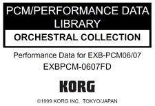KORG EXB-PCM0607 ORCHESTRAL COLLECTION Factory Preload Disk Triton EXBPCM-0607FD