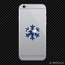 South Carolina Snowflake Cell Phone Sticker Mobile SC snow flake snowboard