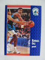 Kendall Gill Charlotte Hornets 1991 Fleer Basketball Card 20