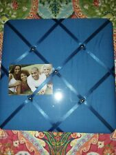 Fabric Memory/Memo Photo Bulletin Board, BLUE Brand New Sealed 13x13