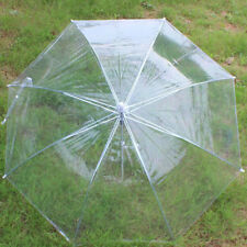 Large Transparent Umbrella Clear See Through Wedding Party Decor Dance Tools US