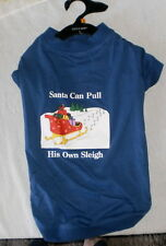 ZACk & ZOEY SANTA'S SLEIGH  TEE FOR  DOGGIE ' SIZE LARGE' NEW!