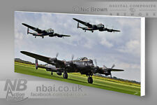 Avro Lancaster 2014 UK tour CANVAS PRINT, Digital Artwork