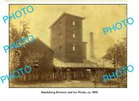 OLD 8x6 PHOTO BUNDABERG BREWERY ICE WORKS c1890 QLD