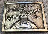 VINTAGE 1975 Heileman's SPECIAL EXPORT Beer Bergamot Brass Belt Buckle