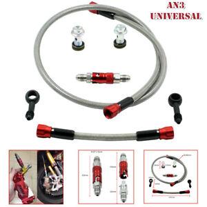 Universal Motorcycle Hydraulic Brake Light Switch Bolt Thread Pitch Line Fitting