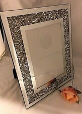 """Mirror & Crystal 4"""" x 6"""" Picture Photo Frame - Sparkly Gift Idea"""
