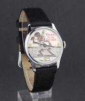 Vintage wind-up Tennis is my Racquet Novelty Character Watch for Repair