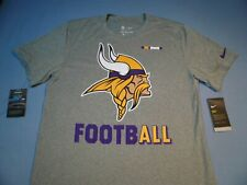 2d921a992 Mens Nike Short Sleeve Minnesota Vikings Football T Shirt Gray Size M