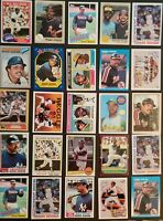 Reggie Jackson 25 Baseball Card Lot Vintage and Modern NY Yankees Oakland A's