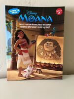 New Moana Learn To Draw By Walter Foster Jr. Disney Maui Pua Back To School Art