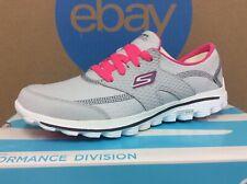NEW Rare 2014 Skechers Go Walk 2 Golf Women's Shoes Size 6.5 Gray Hot Pink E10