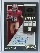 2018 Panini Contenders DANTE PETTIS Playoff Ticket Auto 28/49 SF 49ers RC