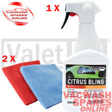 VALETPRO CITRUS BLING DETAIL SPRAY AND CLAY LUBE / QUICK WAX / ENHANCER + CLOTHS