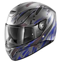 Shark D-Skwal NEW D Skwal KANHJI ABK Silver BLUE Full face Motorcycle HELMET -ZQ