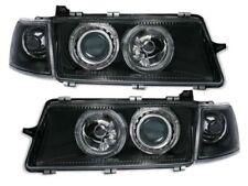 Black clear finish angel eye HALO headlights FOR OPEL VECTRA A 92-95 RHD LHD car
