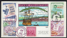 1986 Stamp Collecting Set of 4 - Collins Hand Painted COMBO FDC Erf202