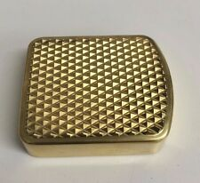 HARLEY SOLID BRASS BRAKE PEDAL PAD cover DYNA FXST FXWG FLHS FXDWG softail