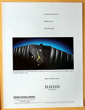 1999 Magazine Print Ad for Rado Switzerland DiaStar 'Sintra' Watch