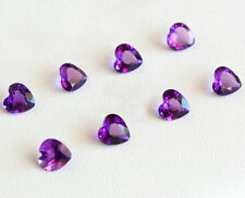 Natural Amethyst 5mm Heart Cut 100 Pieces Top Quality Loose Gemstone AU