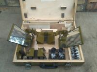 Mirror Stereoscope Viewer Map Reading Air Photo Military 60s Vintage