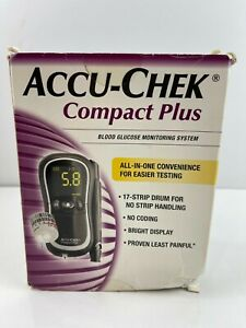 Accu-Chek Compact Plus Blood Glucose Monitoring System Meter NO TEST STRIPS