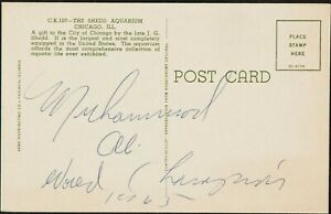 "Muhammad Ali ""1965 World Champion"" Signed Vintage Postcard With JSA COA"