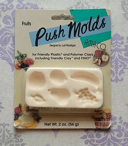 Amaco Push Molds FRUITS Designed By Judi Maddigan NEW Sealed!