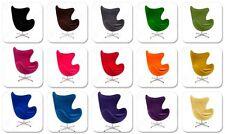 Poltrona egg chair Jacobsen lana cashmere basculante girevole colore a scelta